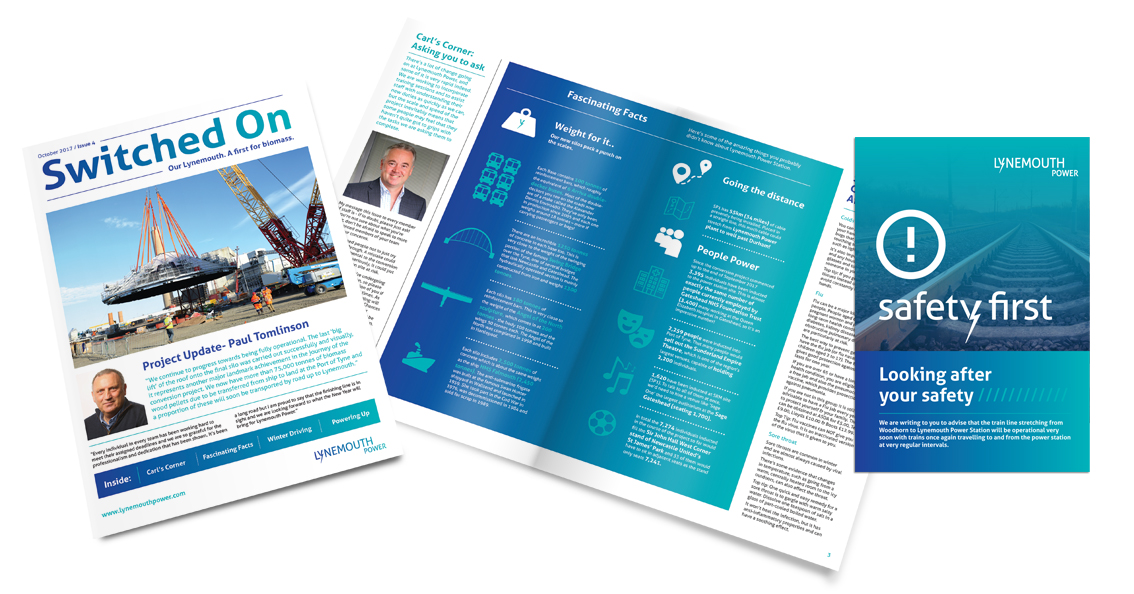Newsletter keeping contractors involved with the coal-fired to biomass conversion of Lynemouth power plant up to date