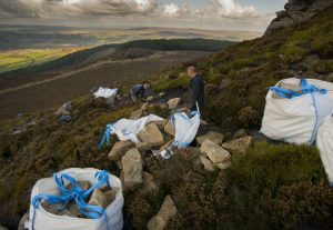 The team of specialists installing the stones at Simonside. Copyright A Mackenzie.