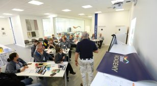 A training course in session at the new Dulux Academy at AkzoNobel Ashington.