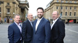 (L to R): Ian Lewis, Alan Fletcher, Chris Stappard and Colin Wilson of Edward Reed Recruitment.