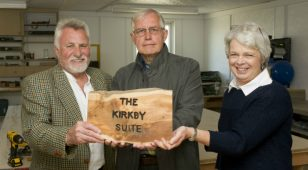 (L to R) Gordon Moore, chief executive officer of Blyth Star Enterprises with Stuart and Janet Brown of The Kirkby Foundation.