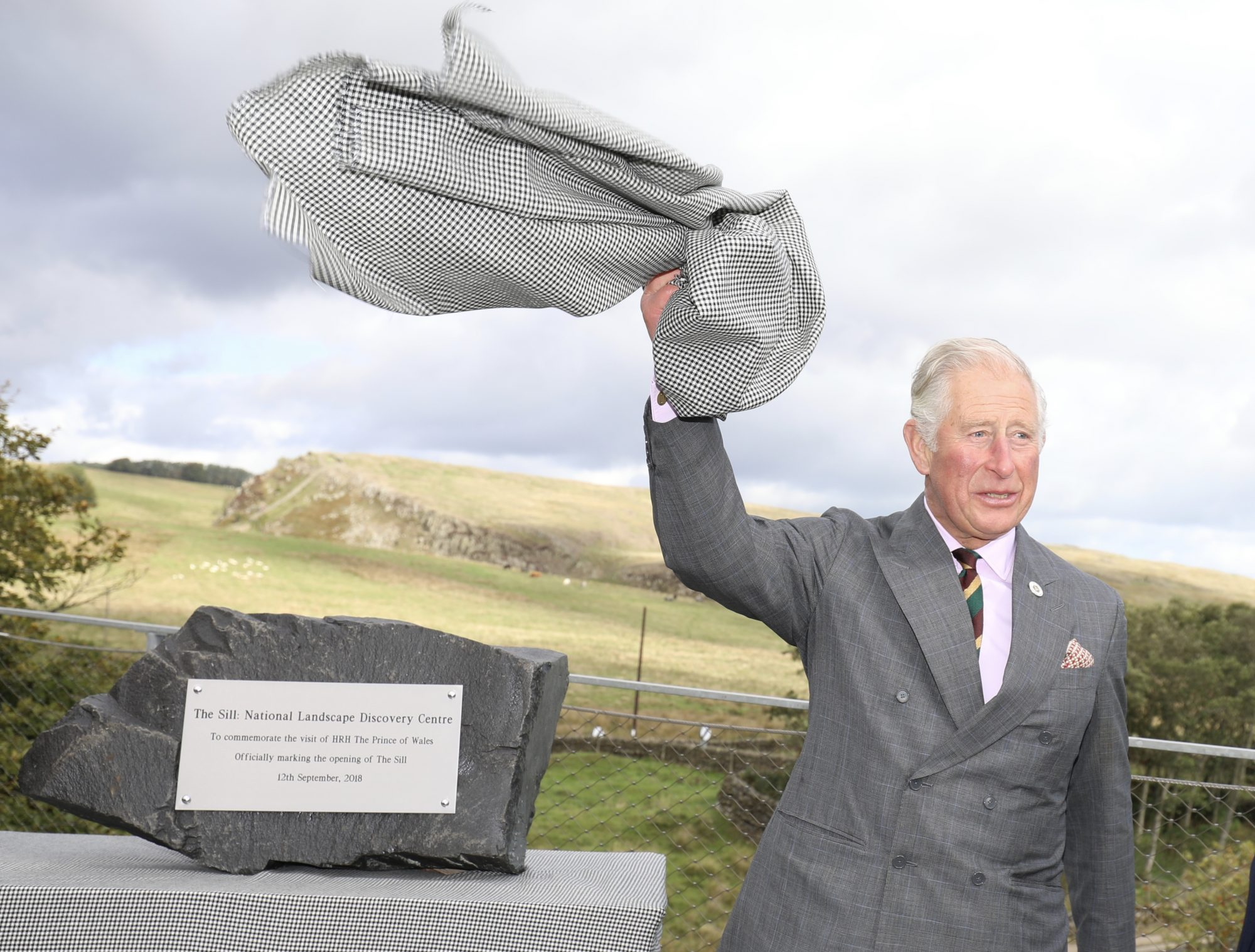 1.) To mark his visit, The Prince of Wales unveiled a commemorative stone on the roof of The Sill: Landscape National Discovery Centre.