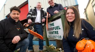 (L to R) Neil Hedley and Gordon Moore from Blyth Star Enterprises with Eric Morgan and Faye Dent from the Reece Foundation.