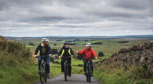 Ebike riding near Hadrian's Wall.