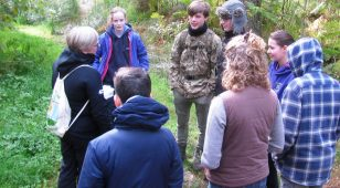 This year's graduates taking part in Northumberland National Park's New Naturalist Education Programme.