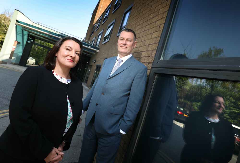 Lesley Lock and Matthew Lamb, Hospital Directors at Nuffield Health Tees and Newcastle Hospitals.