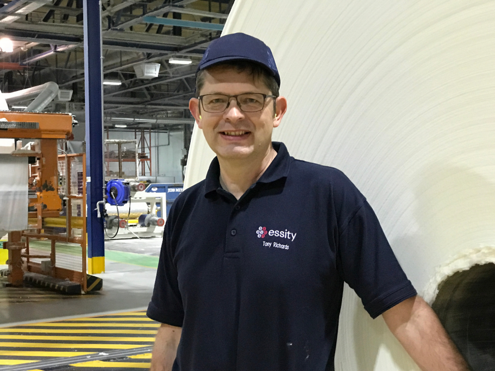 Tony Richards, Essity UK Operations Director for Manufacturing Consumer Goods.