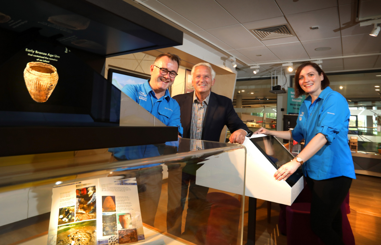 Tony Gates, chief executive, Cllr Glen Sanderson, Chairman and Sarah Burn, Head of Activities and Exhibitions, all at Northumberland National Park Authority.