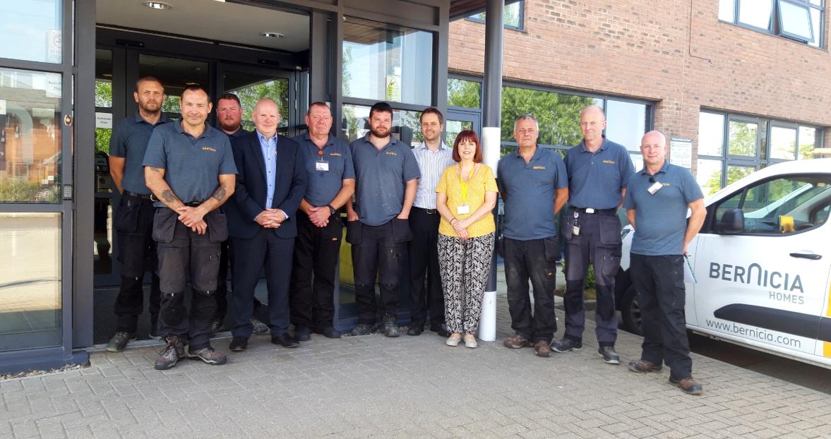 The Bernicia County Durham Handyperson Service team.